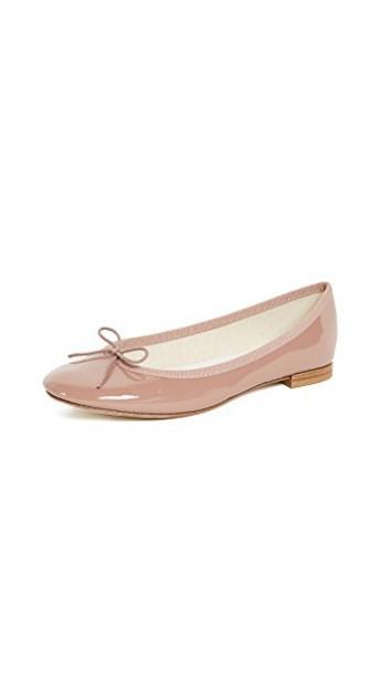 Repetto ballet flats ballet flats tan satin shoes