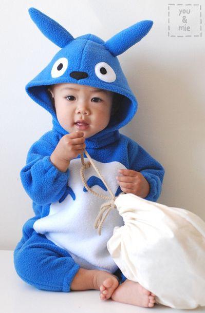 totoro onesie kids fashion jumpsuit