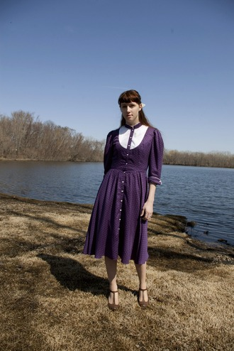 justice pirate purple dress dress
