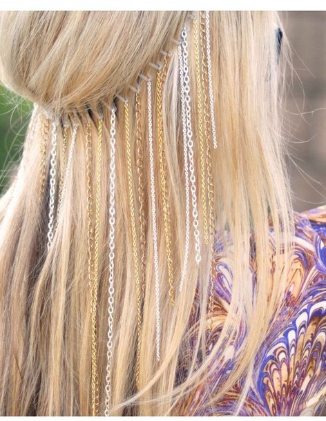 hair accessory hair chain hairchain