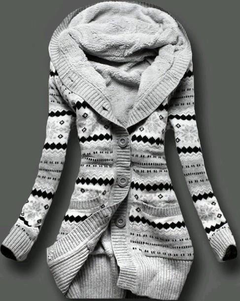 sweater clothes jacket wool jacket norwegian knit