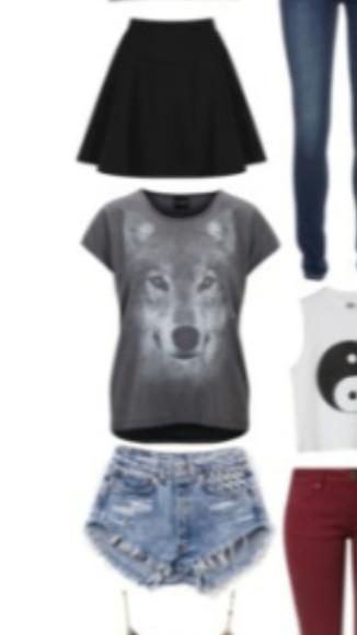 grey t-shirt wolf