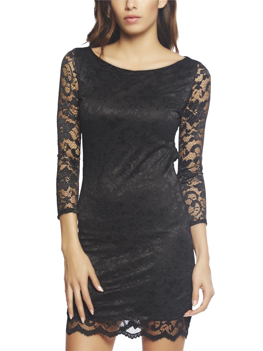 Scallop Lace Cutout Dress | Arden B.