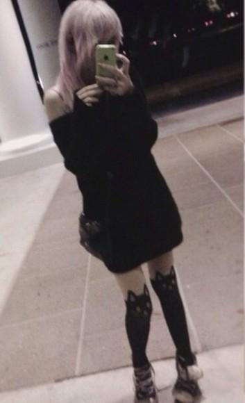 sweater winter sweater cute dress black pullover cute dress