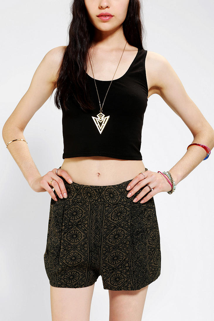 BDG Scoopneck Cropped Tank Top - Urban Outfitters