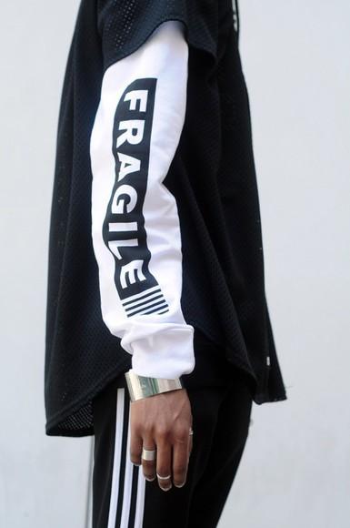 sweater jacket hoodie jumper fragile pullover