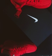 shoes,hair accessory,all red nike air force,red shoes,nike air force 1,red,sneakers,nike air