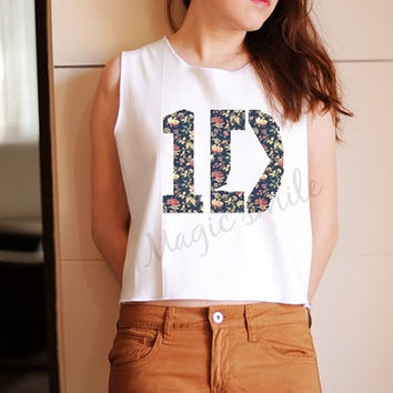 1D shirt one direction shirt 1D tank style - Premium cotton Crop tank, Tank Top, T-shirt, Long sleeve, unisex shirt, women tank, girl tank on Wanelo