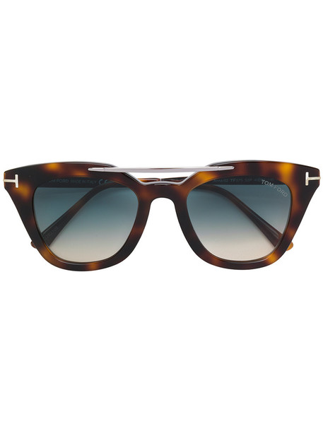 Tom Ford Eyewear - Anna 02 sunglasses - women - Acetate/Metal (Other) - 49, Brown, Acetate/Metal (Other)