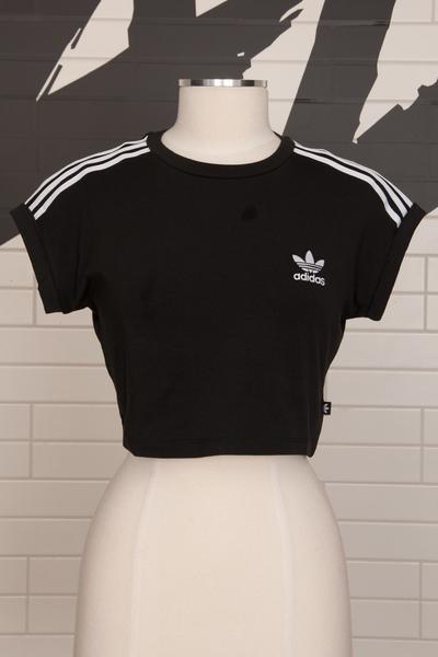 Adidas Originals 3 Stripe Cropped Top