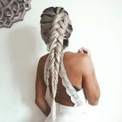 romper,white romper,lace,crochet,open back