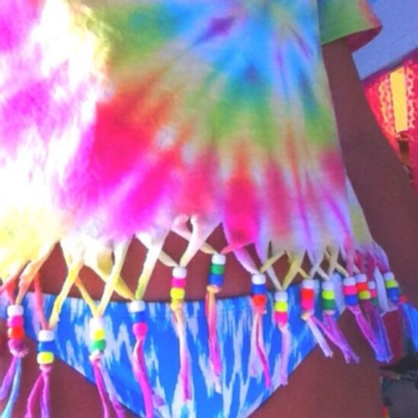 t-shirt tie dye croppedtop