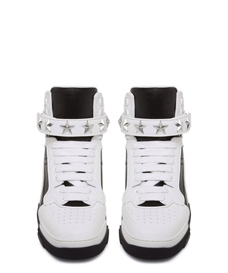 shoes black & white stars givenchy sneakers