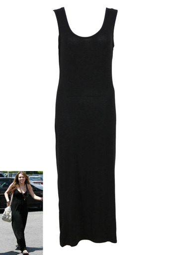 Womens Odessa Low Back Jersey Maxi Dress in Black | Pop Couture