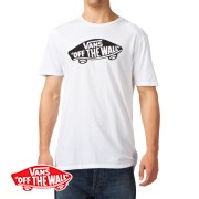 Vans Off The Wall T-Shirt - White/Black | Free UK Delivery