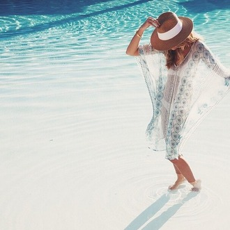 dress sheer kaftan bohemian beach sheer cover up