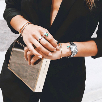 jewels bracelets tumblr jewelry accessories accessory ring stacked bracelets stacked jewelry watch silver watch