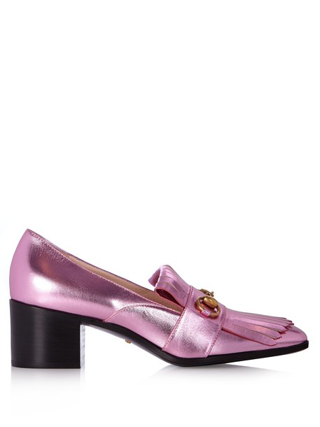 gucci loafers leather light pink light pink shoes