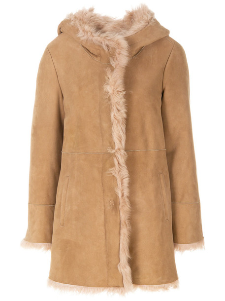 DROME coat fur women nude
