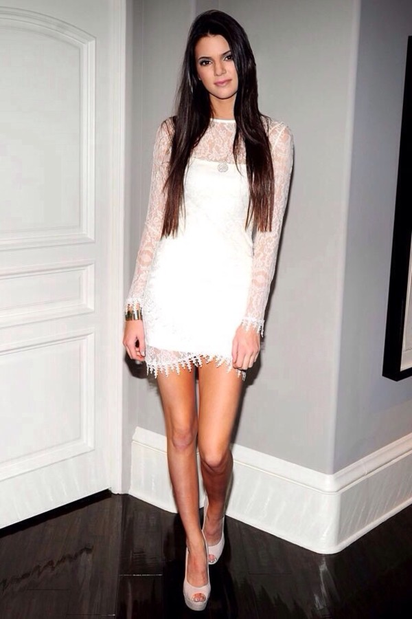 dress kendall jenner white