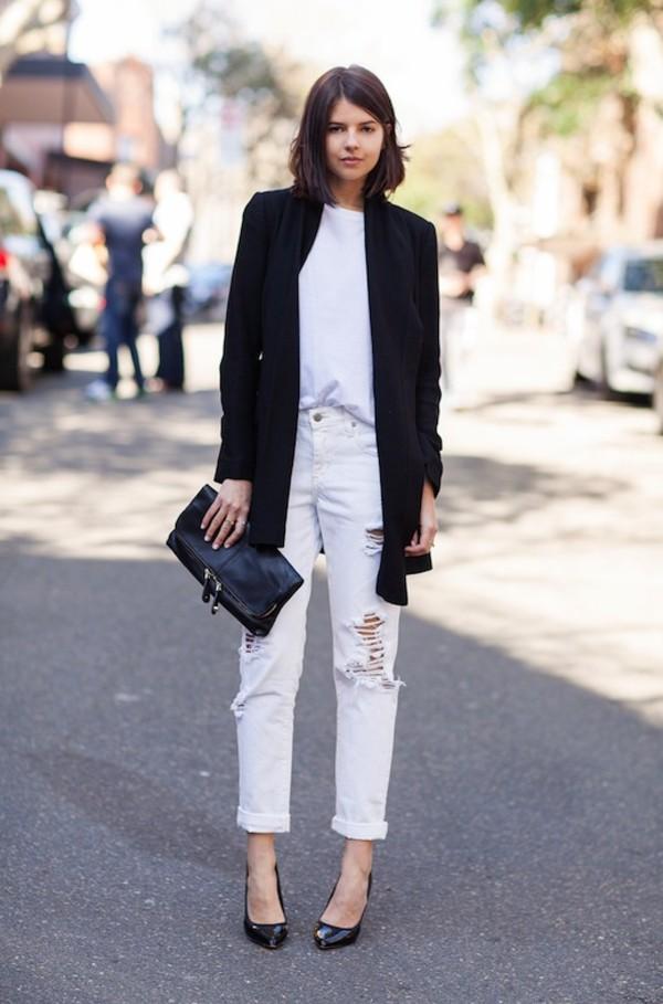 le fashion image jacket t-shirt jewels bag jeans