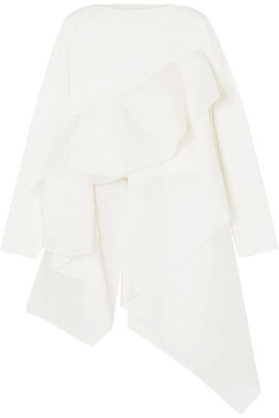 Antonio Berardi top white silk off-white