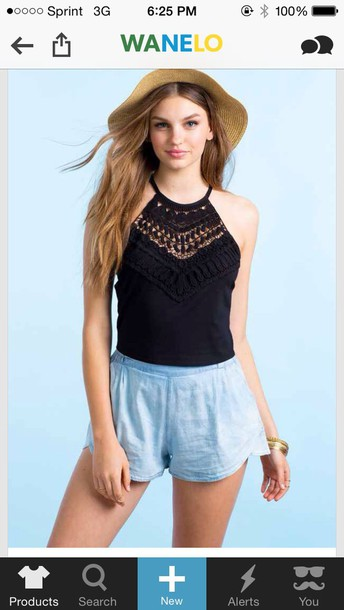 shirt lace top