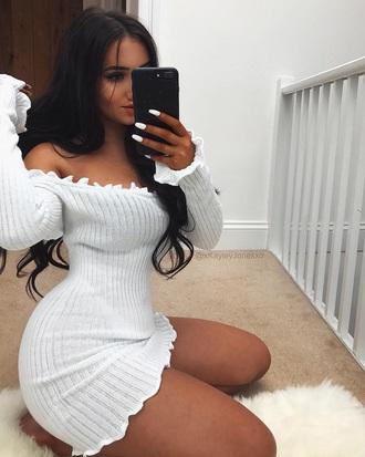 dress white white dress off the shoulder