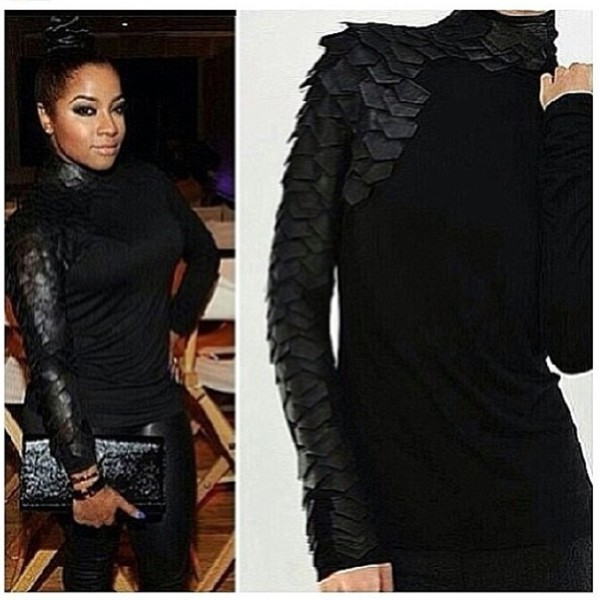 shirt black reptile blouse shift solid cute hurry me out ok scales dragon scales asymmetrical leather leaflet blouse black nya leeer top