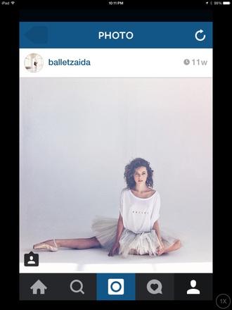t-shirt white t-shirt ballerina ballet shirt