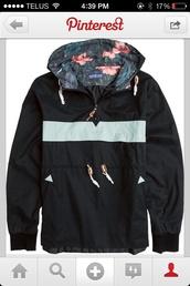 coat,navy,white,windbreaker,jacket,blue,light blue,floral windbreaker,floral jacket,dope,floral,adidas,sweatshirt,floral hood,black,teal,outterwear,flowers,bomber jacket,katin usa,raincoat