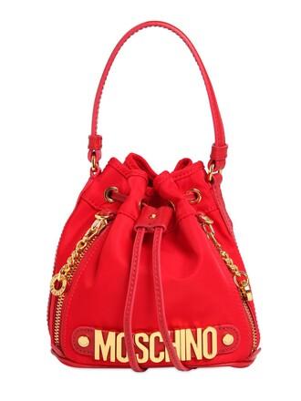 mini bag bucket bag red