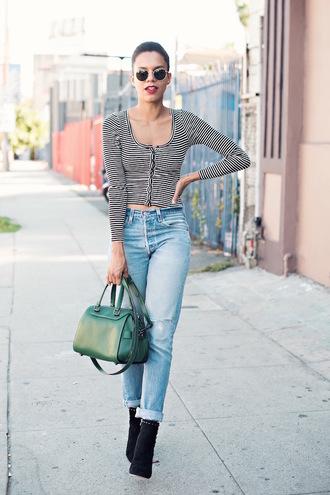 style me grasie blogger jacket bag shoes jeans top sunglasses