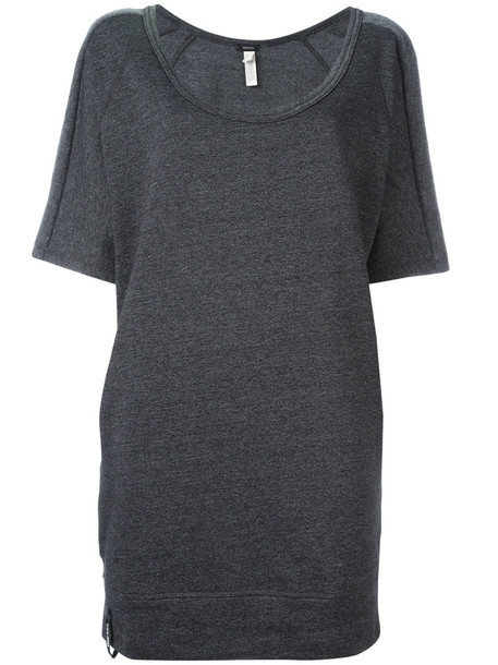 Diesel - long sweatshirt - women - Cotton/Polyester - XS, Grey, Cotton/Polyester