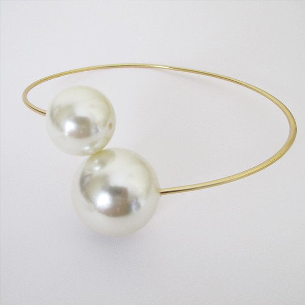 Giant Double Pearl Choker Necklace
