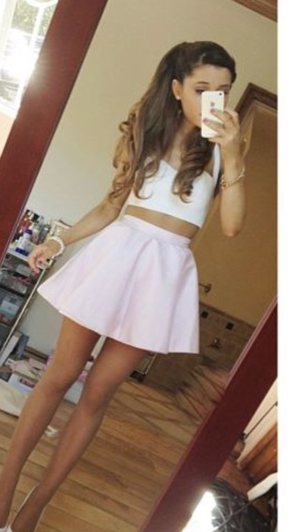 white ariana grande tank top bustier crop tops