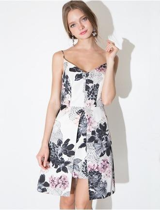 dress floral dress floral sleeveless summer dress spring dress cute adorable v neck pixie market pixie market girl