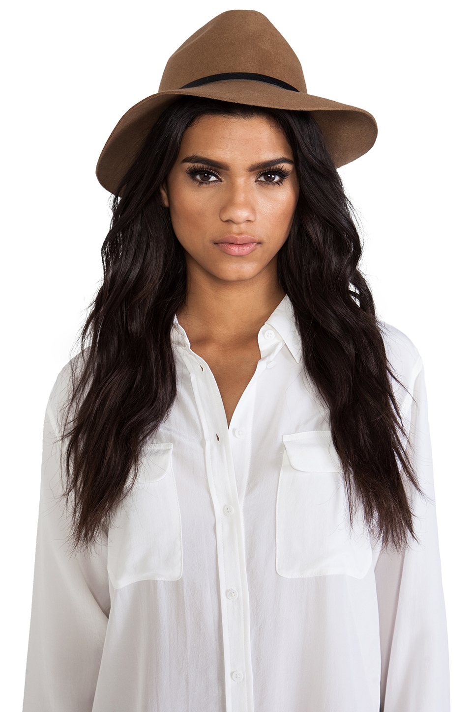 ANINE BING Bohemian Hat in Taupe | REVOLVE