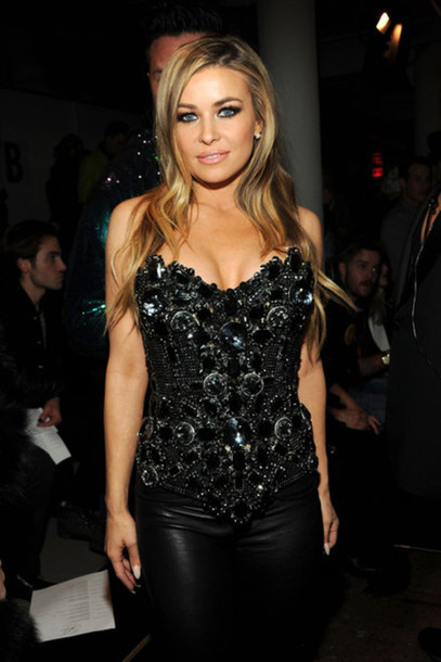 carmen electra bustier embroidered