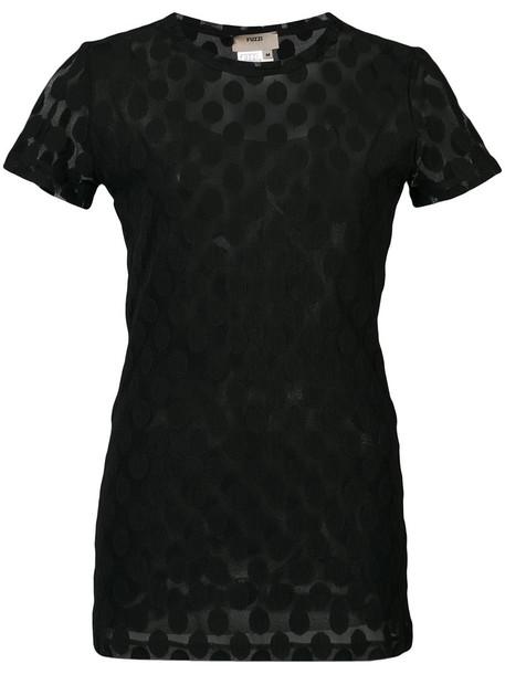 Fuzzi blouse women black top