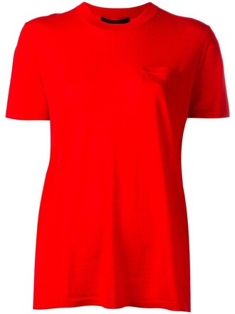 top knitted top women silk red