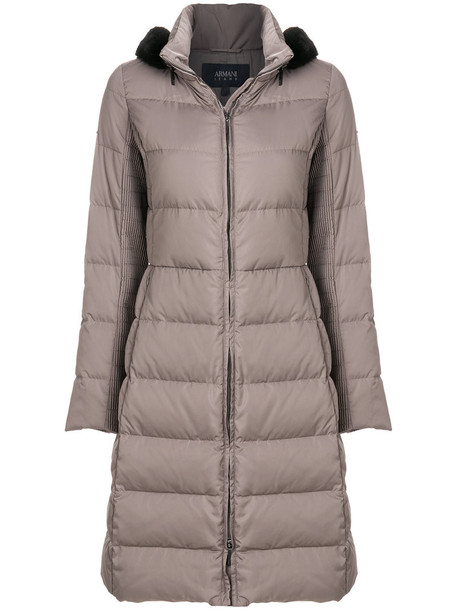 ARMANI JEANS coat long women brown