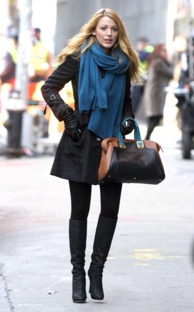 Scarf Gossip Girl Serena Van Der Woodsen Outfit Style Fashion Wheretoget
