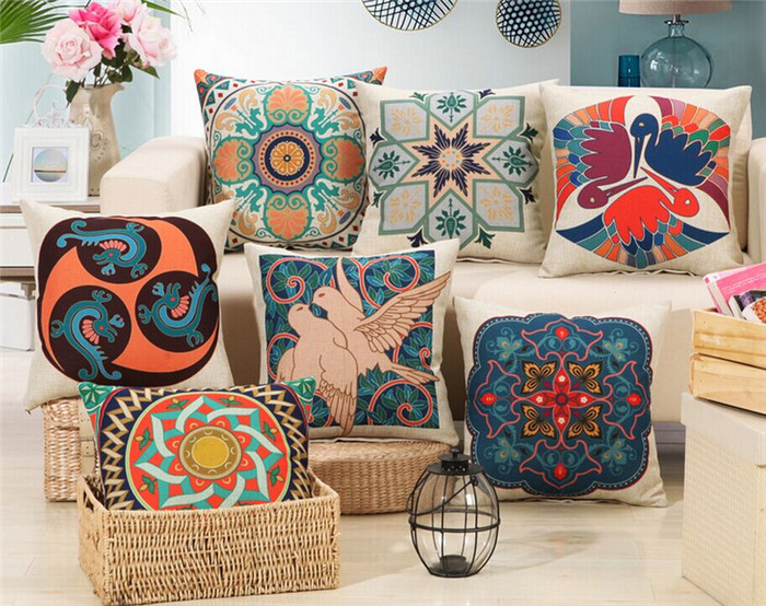 Com : Buy Ripple Chevron Zig Circle Cotton Cushions Home Decor