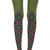 Diamond Flowers Print Tights Green - Zohara - Free Shipping