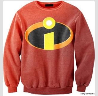 disney sweater crewneck disney sweater incredible red sweatshirt