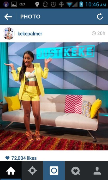 jacket keke palmer yellow