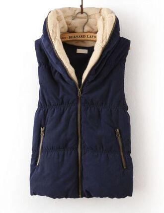 shirt vest navy cozy warmth