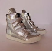 shoes,balmain,biker boots,silver,sneakers