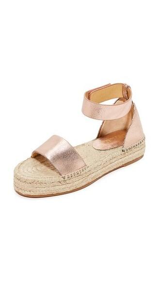 sandals platform sandals rose gold rose gold shoes